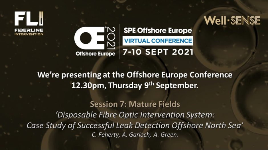Well-SENSE to present at Offshore Europe 2021