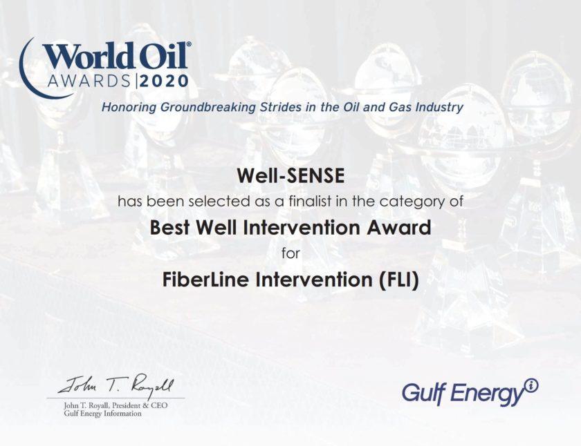 Well-SENSE honoured in World Oil Awards